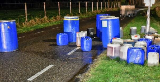 dump drugsafval Hilvarenbeek 27-1-2016